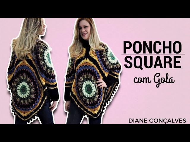 PONCHO SQUARE COM GOLA/DIANE GONÇALVES
