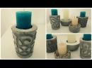 Kerzenhalter aus Beton 2 * DIY * Concrete Candle Holder eng sub