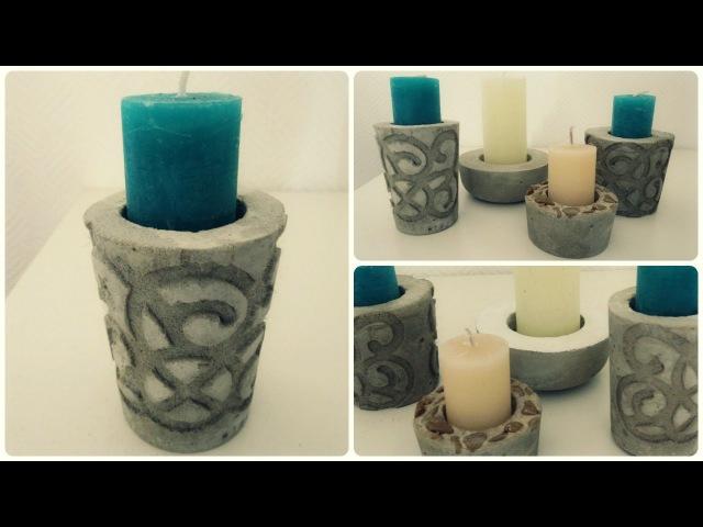 Kerzenhalter aus Beton 2 * DIY * Concrete Candle Holder [eng sub]