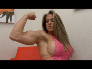 Maria G is Pretty in Pink Lingerie - Female Muscle Network
