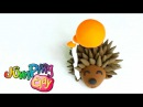 Happy BIRTHDAY Little Hedgehog with Balloons Jumping Clay Modeling