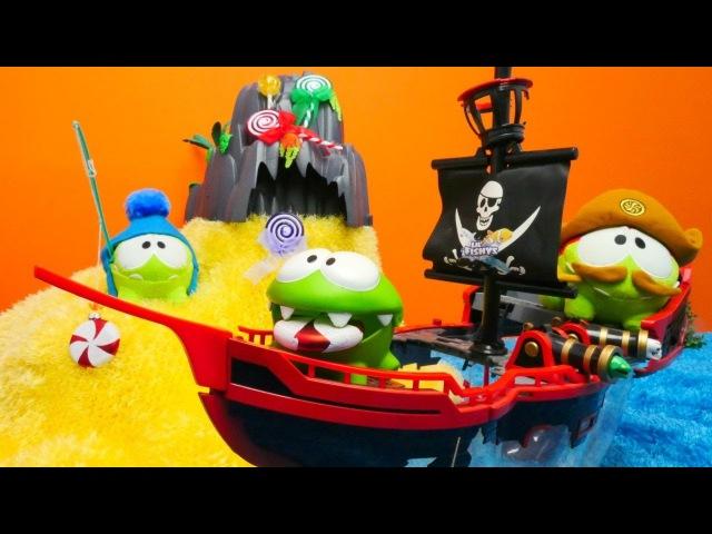 Spielspaß mit Om-Nom -🍭 Die Süssigkeiteninsel🍭 - OmNom der Kapitän sticht in See