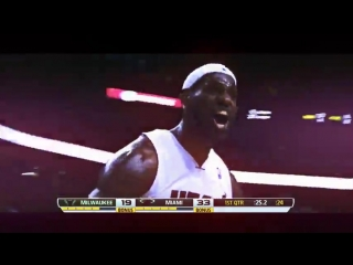 LeBron James мощный Slamdunk  AJ