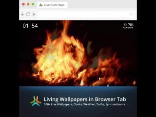 Живые обои Пламя костра (Fire flame close-up Live Wallpaper)