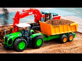 Learn Colors Tractor & JCB Excavator 1 HOUR Cartoon Compilation Children Video Diggers for children