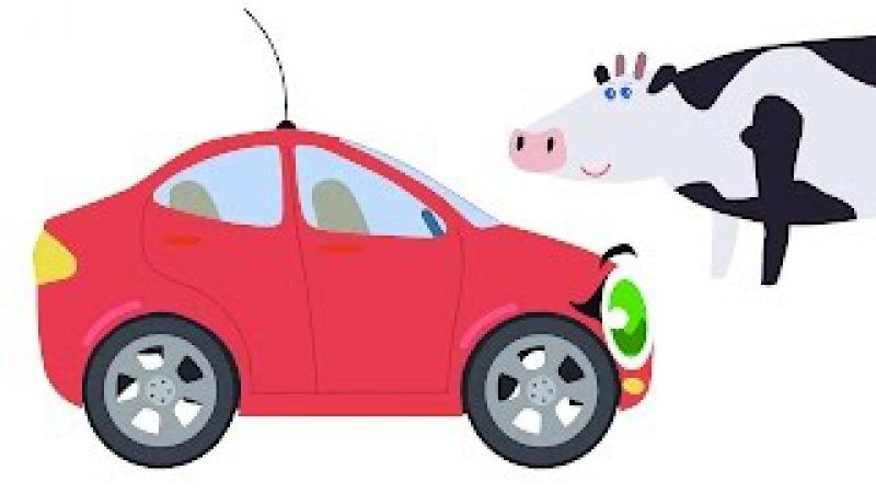 БИБИКА - Развивающий мультик для малышей про животных (Корова, лошадь, овца, свин ...