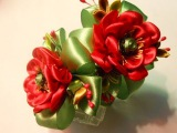 Канзаши. Цветок мака на резиночки.МК  DIY Kanzashi. Poppy flower