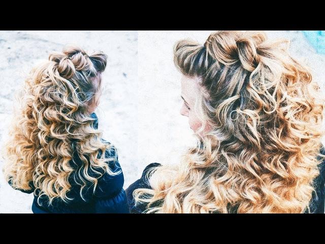 ПРИЧЕСКА НА ДЛИННЫЕ ВОЛОСЫ. Hairstyle for Long Hair. Fryzury dla Długich Włosów. LOZNITSA