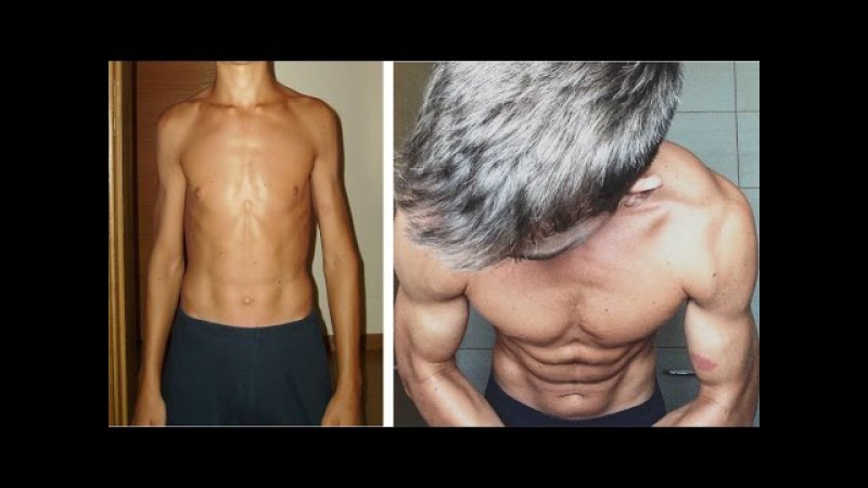 Skinny to... INSANE Natural Ectomorph Body Transformation 56 Kg - 80 Kg Motivational