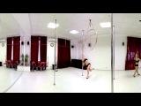 Танец на пилоне.  Тренировка. Сферическое видео.