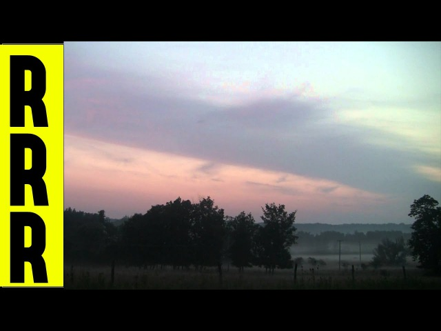 Gorgeous Pink Morning Sky Above Trees Foggy Field In Rural Western Pennsylvania