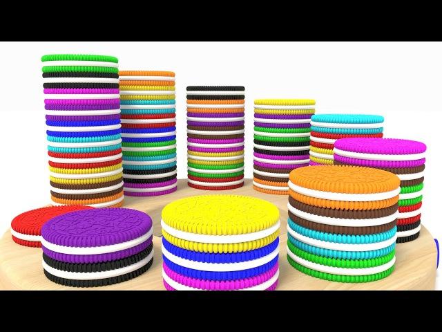 Цветные Печеньки Учим Цифры с Цветными Печеньками Обучающие Видео Для Детей Волшебство ТВ