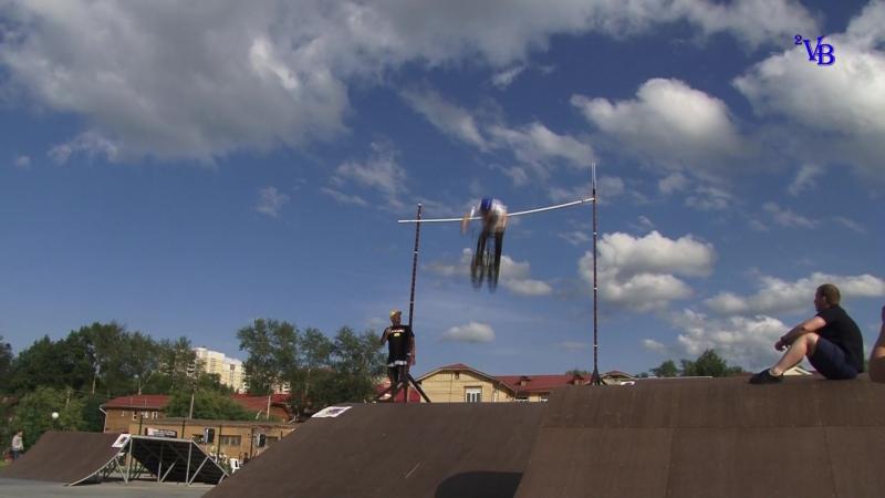 Рекорд Росии.Прыжок победителя на 3.6 метра Игоря Шуклина.г.Берёзовский.Экстрим парк