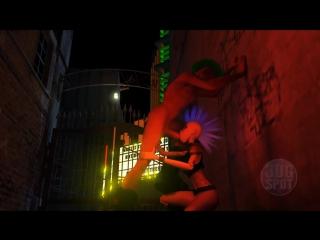 Панки трахаются в подворотне клуба. 3d порно мультик hd