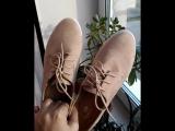 Бежевые ботиночки под замшу