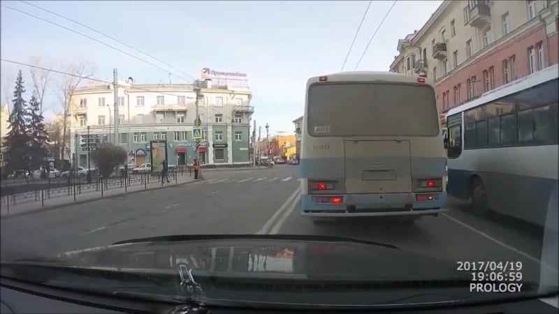 ДТП 19.04.2017 Иркутск (двойная сплошная, сбил пешехода)