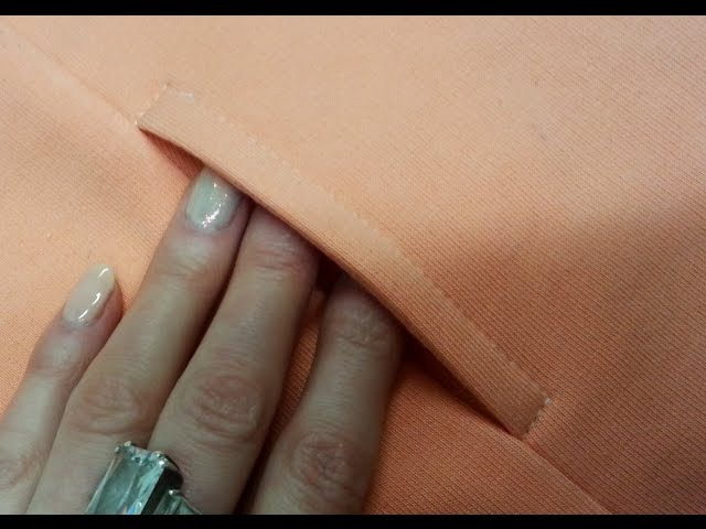 DIY Sewing course How to sew easy pocket. To sweatshirt and trousers. Jak uszyć łatwą kieszeń