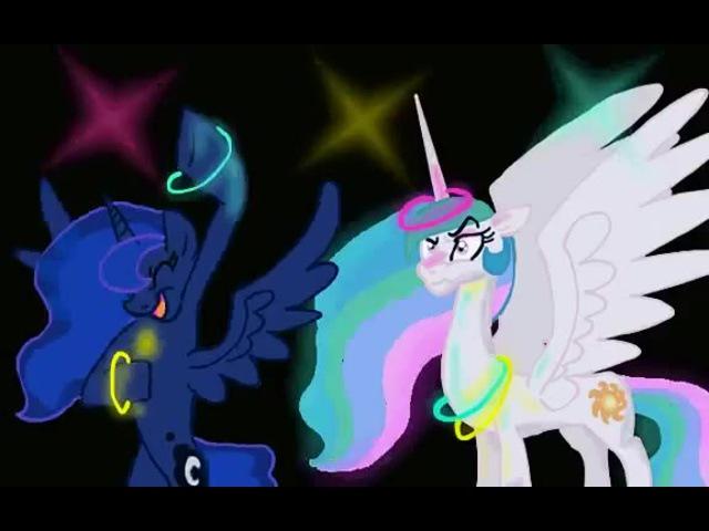 591805 safe princessluna princesscelestia animated upvot