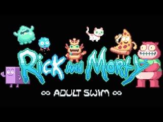 Rick and Morty 8-Bit Intro Adult Swim