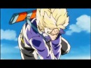 Trunks do futuro derrotando Freeza e Rei Cold