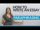 How to write a good essay Paraphrasing the question
