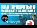 Юлия Билей - Как правильно ухаживать за кистями для дизайна и моделирования ногтей? Periscope