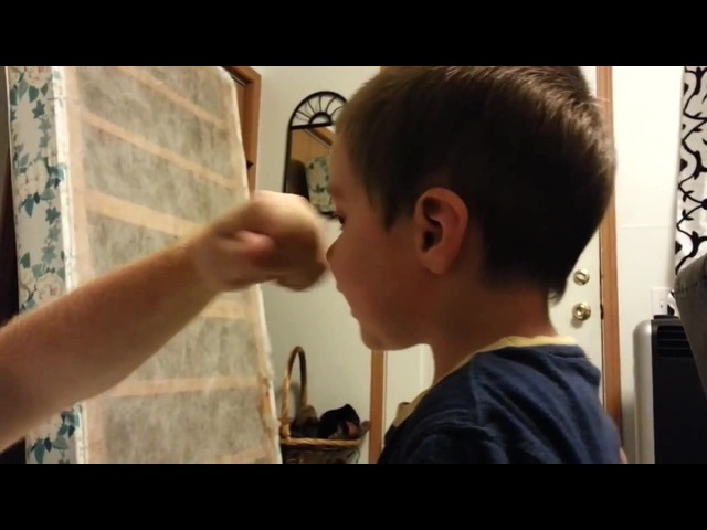 Оторвал сыну нос