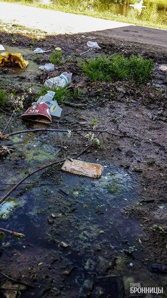 Свалка мусора на Кожурновке Бронницы 2016