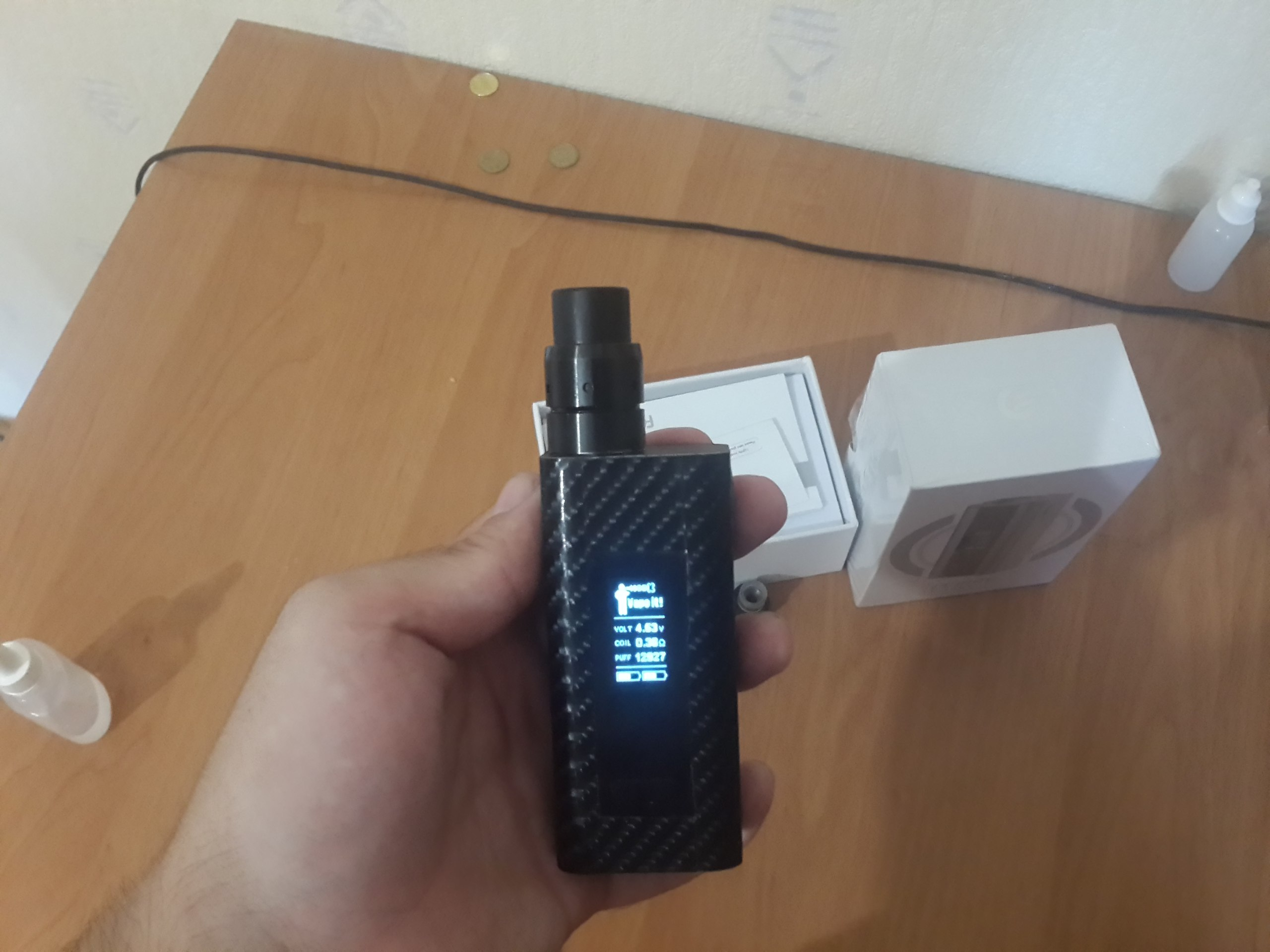 Продам Cuboid 150(200) Ватт с батарейками, Velocity RDA, subtank mini with bell cap 086