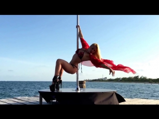 Anastasia Sokolova Poledancer! Pole dance on the beach of paradise hotel Desire Pearl Cancun