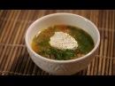 Вкусный и полезный суп из шпината вегетарианское блюдо