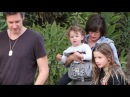 Milla Jovovich And Family Enjoy A Stroll