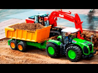 Colors Tractor & JCB Excavator Kids Cartoon Compilation Children Video Diggers for children