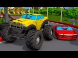 Новая версия 3D-моделей   Желтый Монстр Трак   Автомобильные истории   Мультфильм  ...