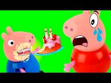 Свинка Пеппа Мультфильм Джордж объелся конфет - Доктор Барби УКОЛ ОТ ЖАДНОСТИ Peppa