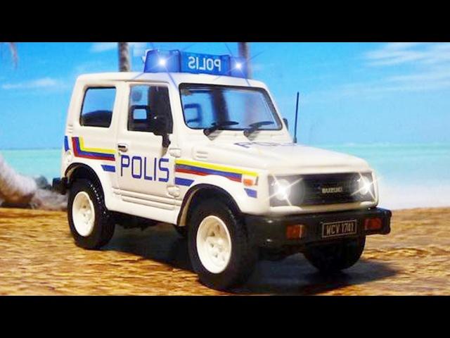 Voiture de Police pour bébés - CAPTURAN delincuentes - Vidéo Éducative de Voitures