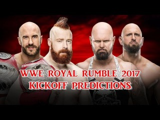 WWE Royal Rumble 2017 Raw Tag Team Championship Cesaro & Sheamus vs. Luke Gallows & Karl Anderson