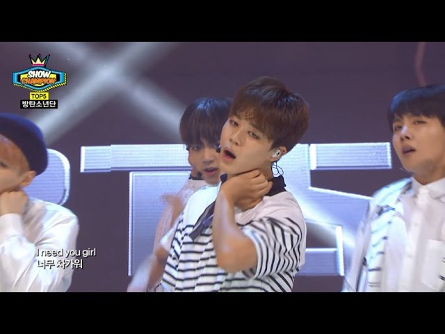 쇼챔피언 - (ShowChampion EP.144) BTS - I NEED U(방탄소년단-I NEED YOU)