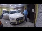 Audi Q3 навигатор вместо монитора, замена акустики