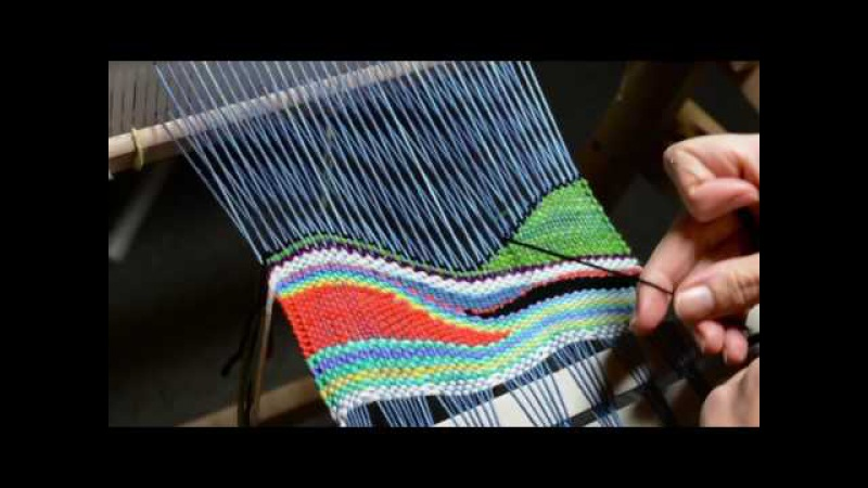 Tapestry style weaving on a rigid heddle loom part 2