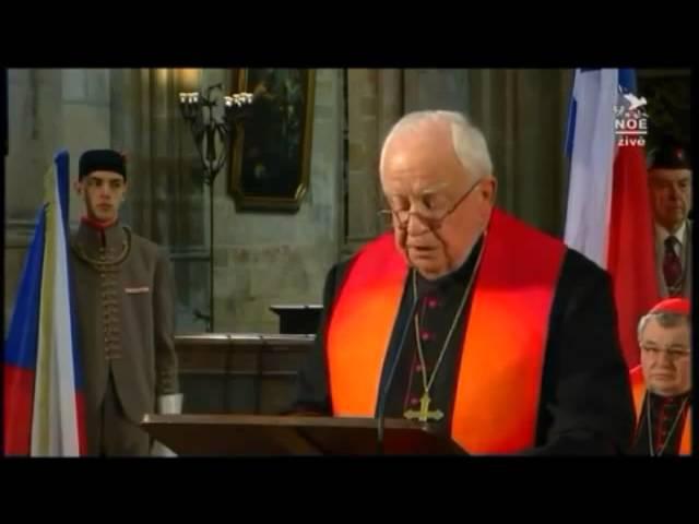 Projev prof. Petra Piťhy, probošta Kolegiátní kapituly Všech svatých na Pražském hradě