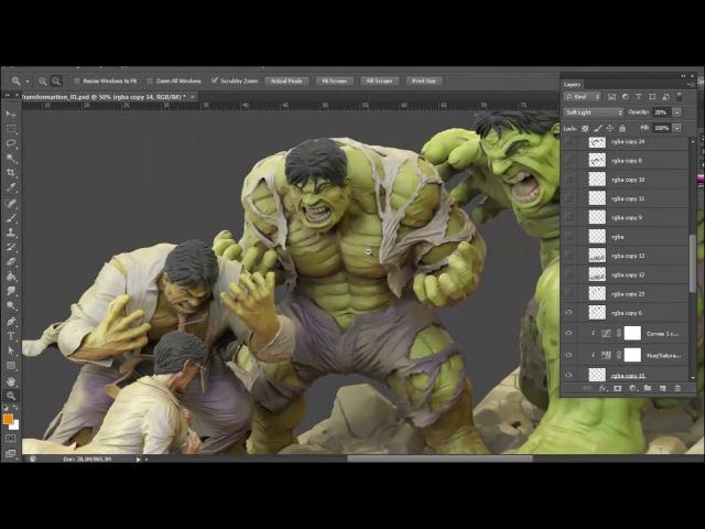 Hulk Transformation FANART by Miguel Hernandez Urbina