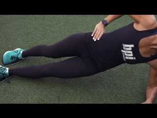 Side plank with knee raise challenge   fit squad 8-week challenge   week 6