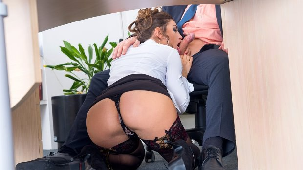 WOW Has Her Hairy Pussy Pounded in the Office # 1