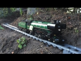 Large-Awesome Lego Train Set. Going through the Garden  House