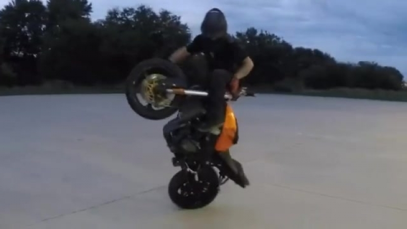 He's got the skills AND the name to back it up. Mr RJ Shrimpton - sportbike freestyle!