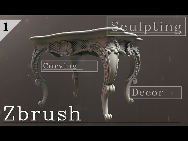 Modeling a carved table. Part 1: Zbrush sketch (Russian language)
