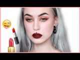 FULL FACE USING ONLY LIQUID LIPSTICKS Challenge | Evelina Forsell