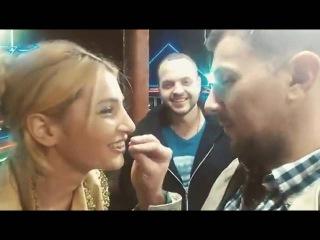 Алексей Секирин и Тата Абрамсон целуются