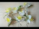 Нарциси канзаши для букета. Нарциссы канзаши своими руками. Daffodils kanzashi